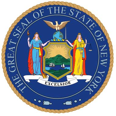 The Great Seal of the State of New York badge